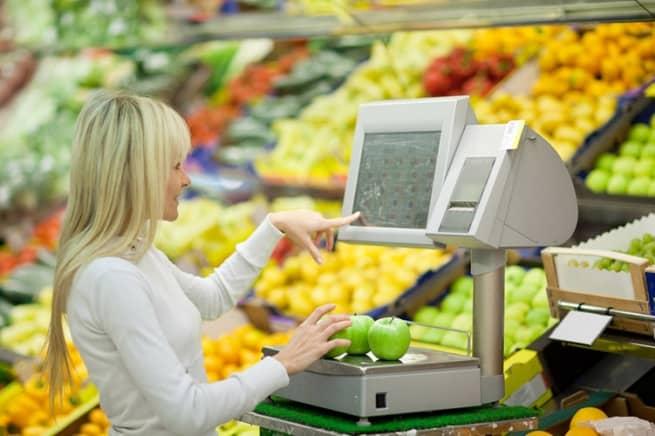 продуктовые весы в магазине