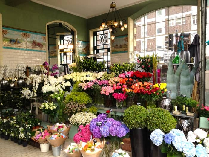 Ассортимент цветочного салона